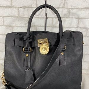 Black Saffiano Leather Michael Kors handbag